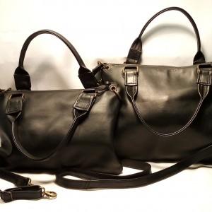 borsa Clash nera in pelle di vitello